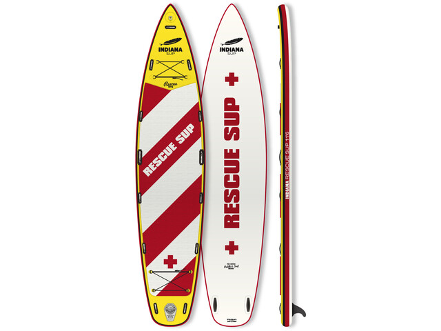Indiana SUP 11'6 Rescue Opblaasbare SUP, wit/rood
